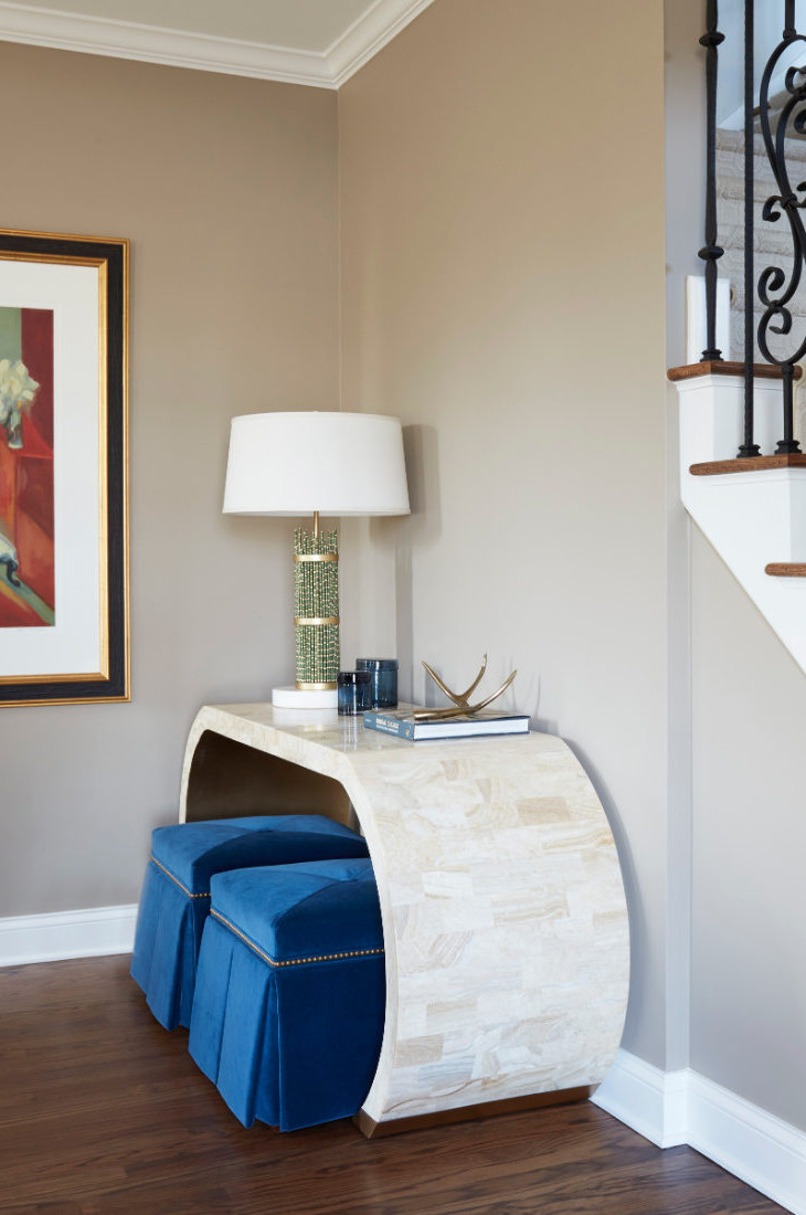 foyer-table-bench-redux-interior-design-barrington-il