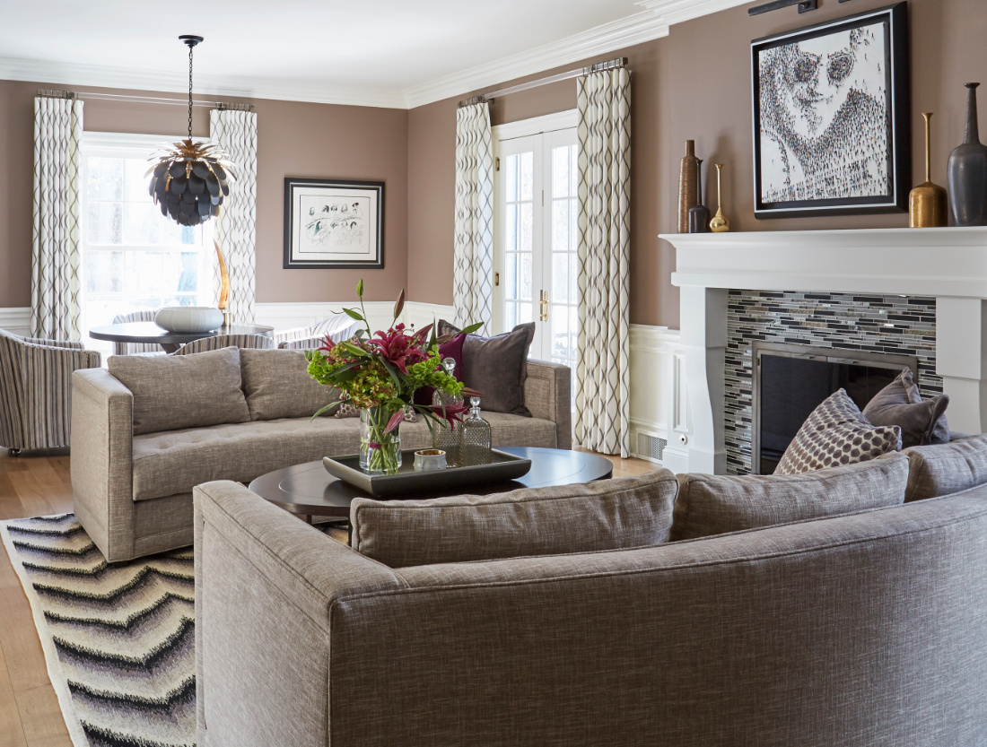 living-room-interior-design-gray-brown-couches-with-fireplace-and-coffee-table