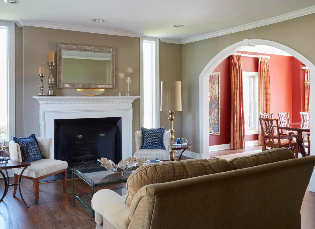 living-room-with-fireplace-and-arch-doorway-barrington-il