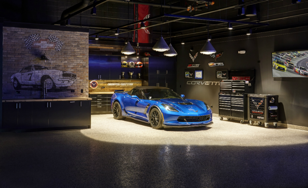Man Cave Design Ideas: The Luxury Car Cave