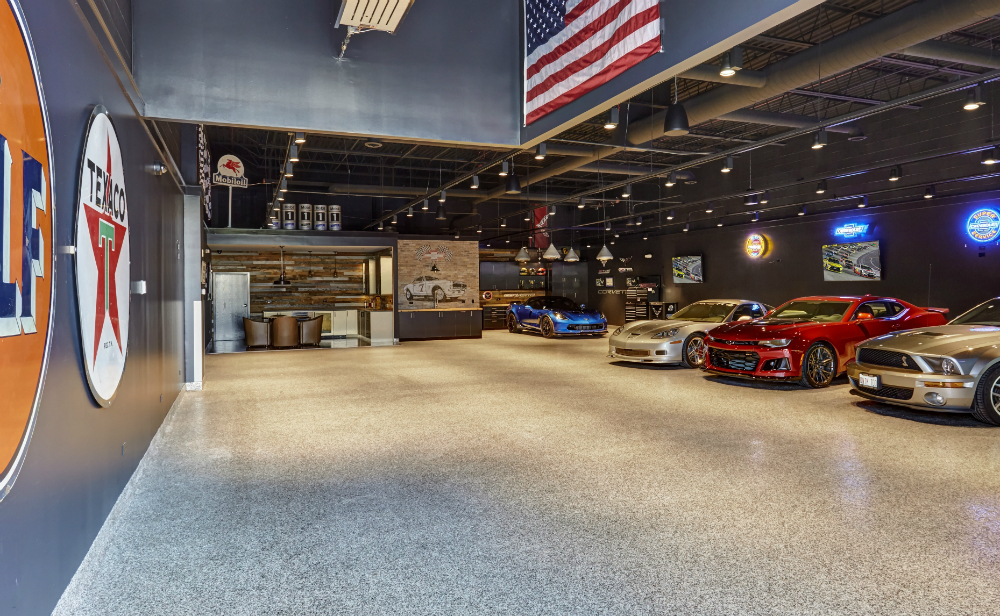 Garage Mica Chip Floor Redux Interior Design