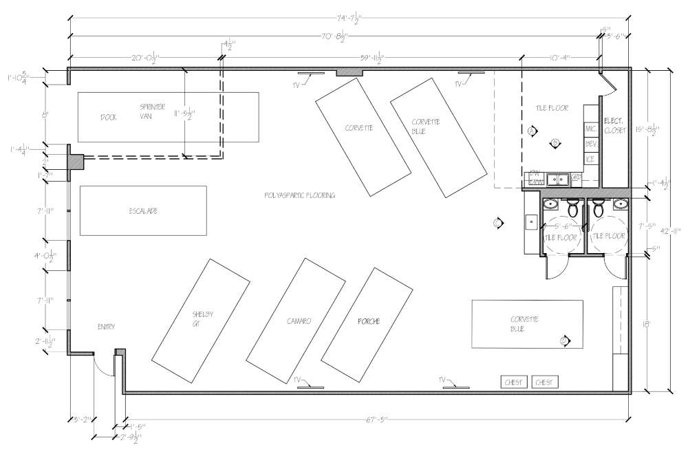 Interior Design Plan Redux Man Cave Blueprints