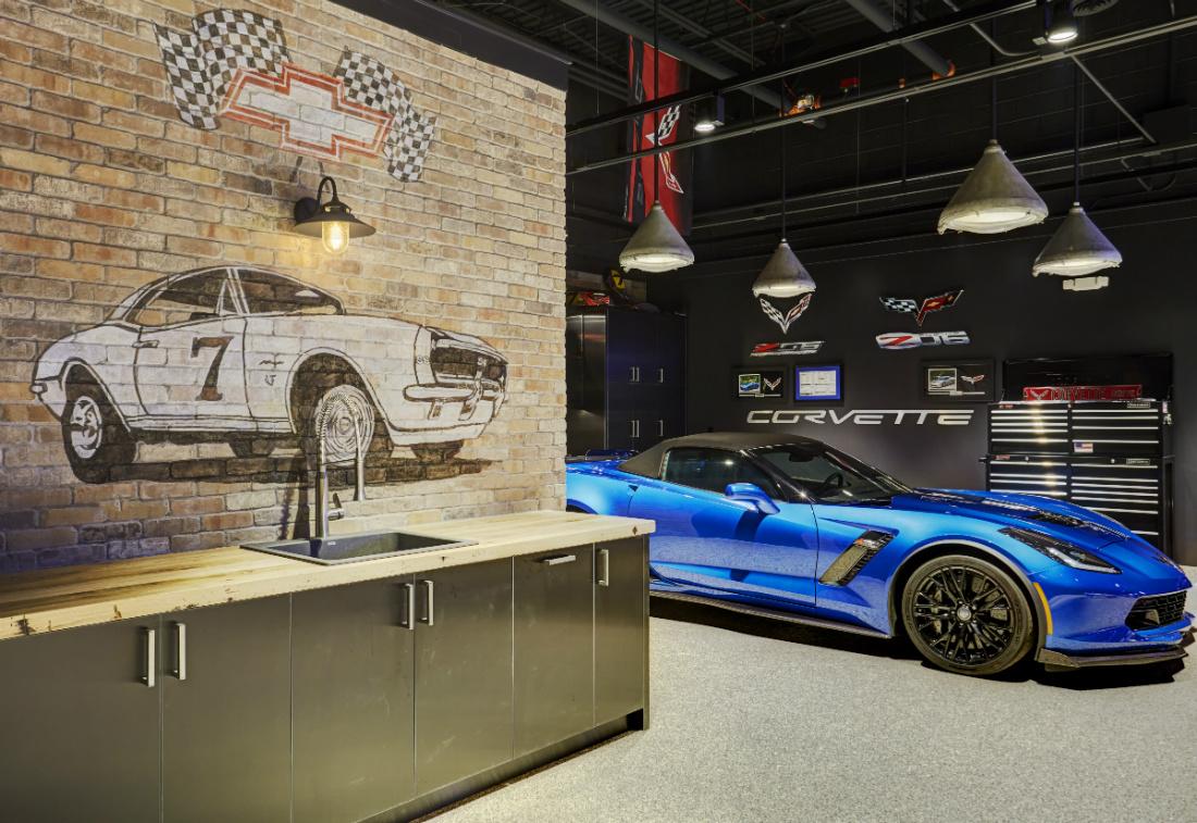 lake-zurich-il-man-cave-interior-design-blue-sports-car
