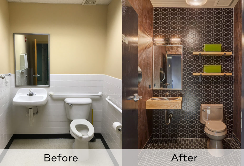 Man Cave Garage Bathroom Before And After Redux Interior Design
