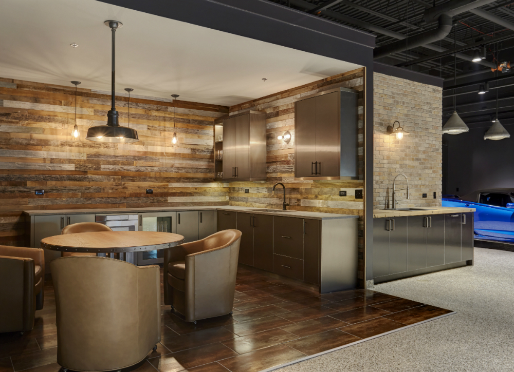 Redux Interior Design Man Cave Garage Kitchenette Design