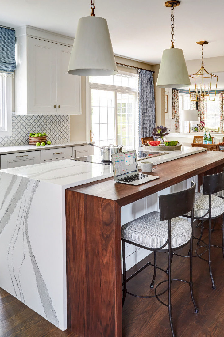 wood-and-marble-kitchen-island-with-stool-seating
